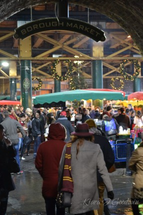 The tour took us through London's hotspots that served as the inspiration for the film, such as Borough Market...
