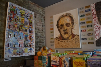 Cereal inspired art. Who knew that was a thing?