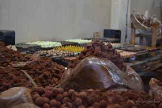 Piles and piles of beautiful chocolate.