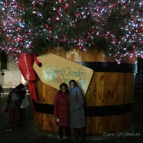 Enjoying the holiday spirit in Covent Garden...