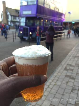 Cheers with butter beers.