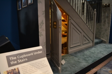 We got to take a peak inside Harry's original room, the cupboard under the stairs.