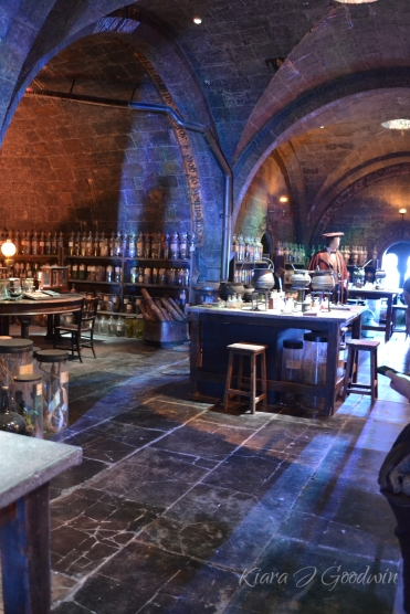 ...or peering into Snape's potion classroom...
