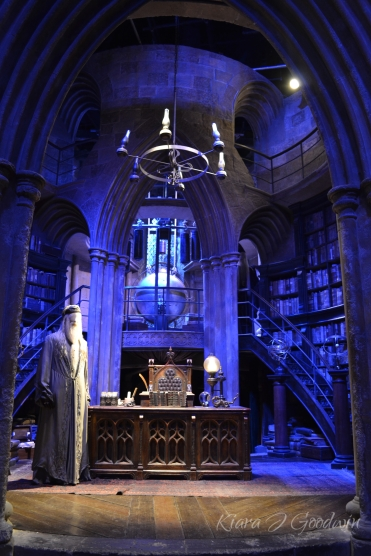 The tour of all the scenes continued. They were the life-size originals used in the filming of the movies. It was surreal to be standing in Dumbledoor's office...