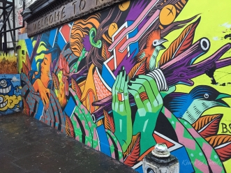 Every wall is covered in these fantastic murals.