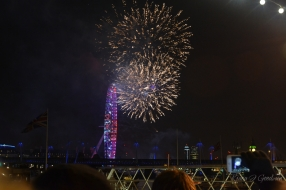 All the fireworks were shot out of the London Eye.