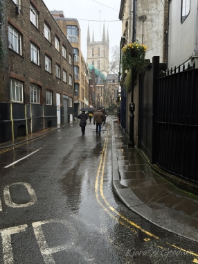 It was gloomy and rainy. But that's London for ya. And we wouldn't have it any other way.