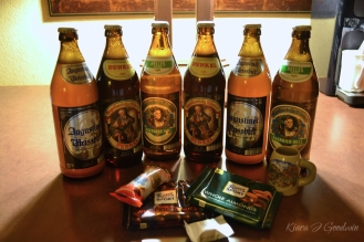 Nothing says Welcome to Germany quite like beer and chocolate.