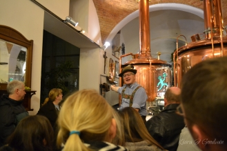 Our brewmaster giving us the royal tour.